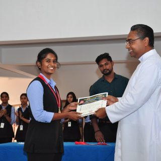 K DEEPIKA IInd Psychology, Gold Medal in Senior State Karate Championship