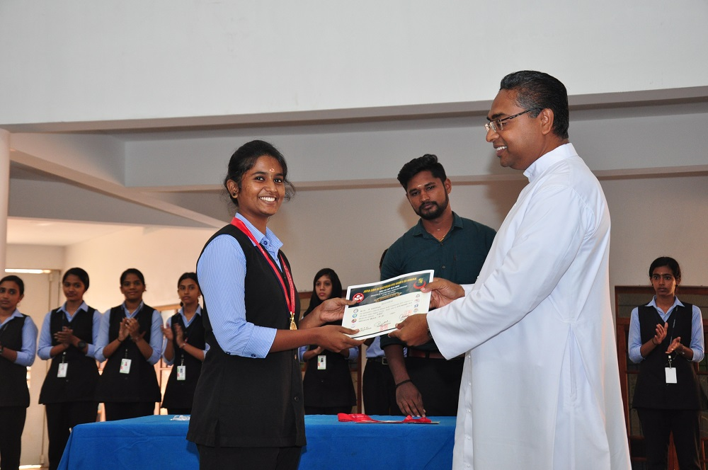 K DEEPIKA IInd Psychology, Gold Medal in Senior State Karate Championship