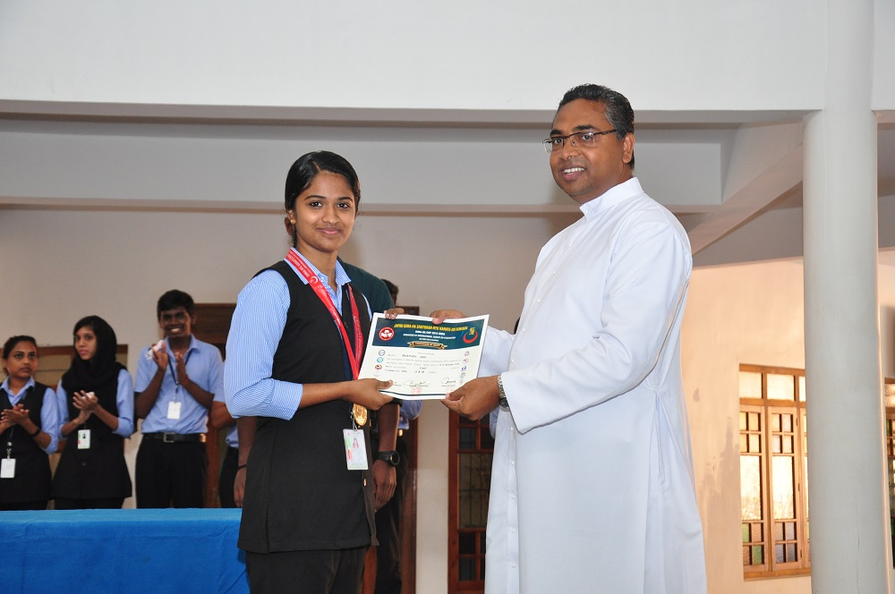 Rosemary Jose, 1st Geography, Gold Medal in Junior Karate Championship Held at Thrissur
